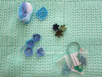 wip opaline crochet blanket decoration