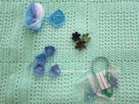 wip opaline crochet blanket decoration