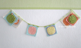 garland of another squares multi colored