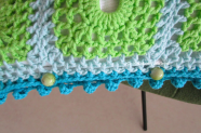 lacy with dots crochet cushion cover closure with beads
