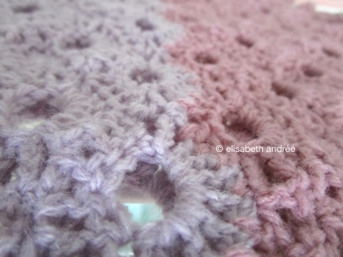 close up secret crochet project