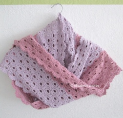 crochet lacy stole scarf by elisabeth andrée