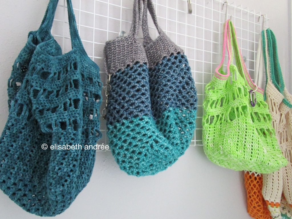 crochet bags and a secret project elisabeth andrEe