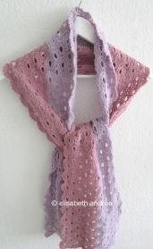 crochet stole scarf on hanger by elisabeth andrée