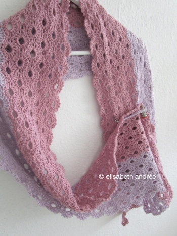 pink lilac stole scarf on hanger