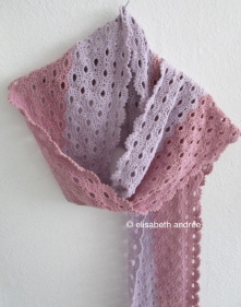 stole scarf pink lilac