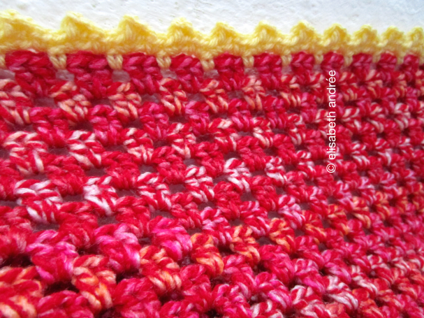 yellow edge around small blanket
