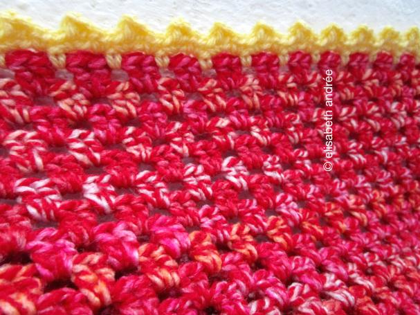 yellow edge around small blanket
