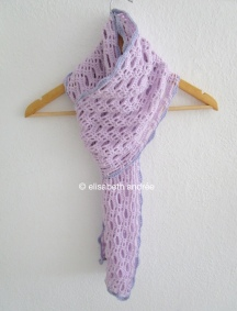 crochet lacy lilac scarf by elisabeth andrée