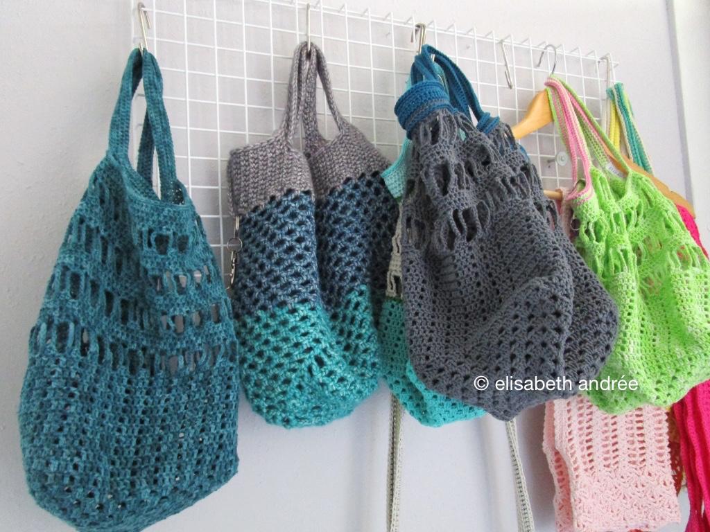 crochet (super)market bags by elisabeth andrée