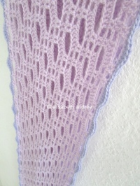 lilac and lacy crochet scarf by elisabeth andrée