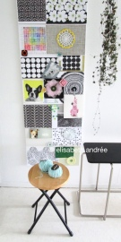 side tables and inspiration board of elisabeth andrée