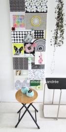 side tables and inspiration board of elisabeth andrée