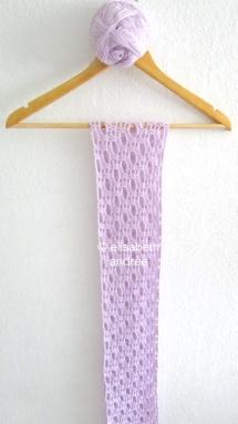 work in progress lilac shawl by elisabeth andrée