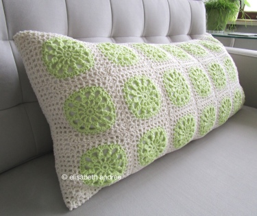 cushion cover made of 42 another squares by elisabeth andrée
