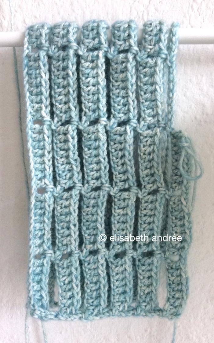 blue crochet stitches by elisabeth andrée